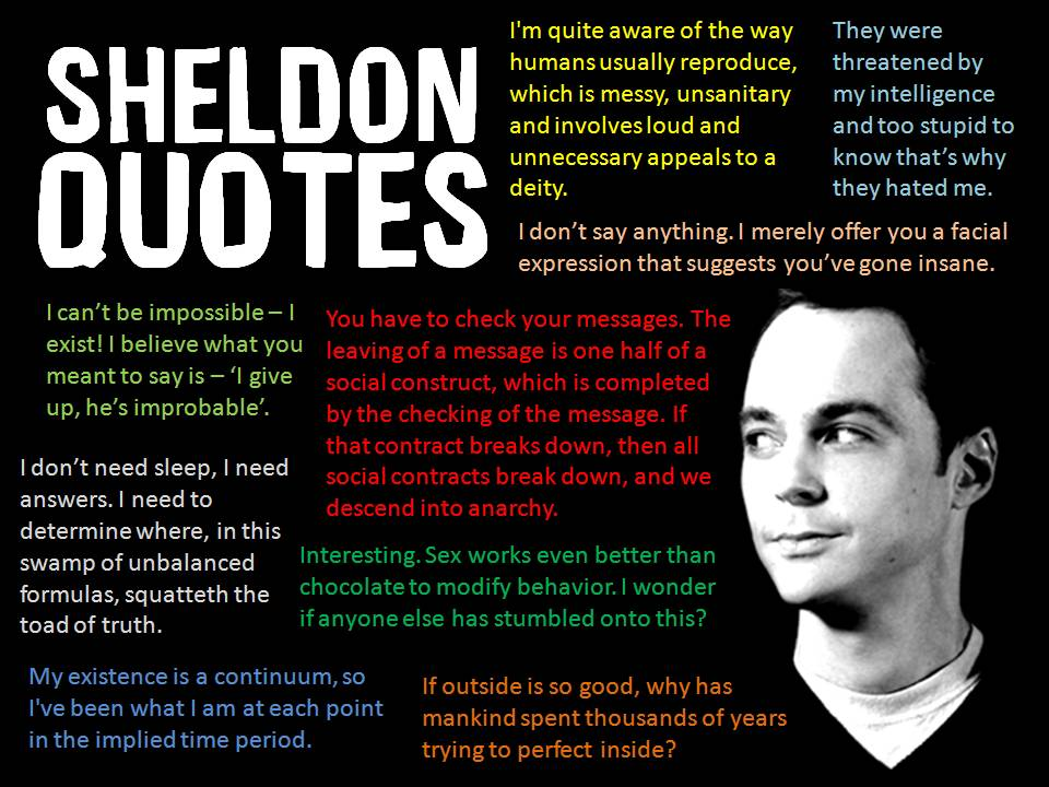 Dr. Sheldon Lee Cooper Memorable Quotes