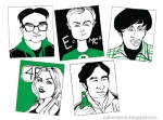 Big Bang Theory Caricatures from catherinemodotblogspotdotcom