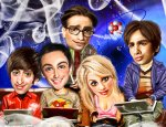 TBBT-Caricature-the-big-bang-theory-from fanpop