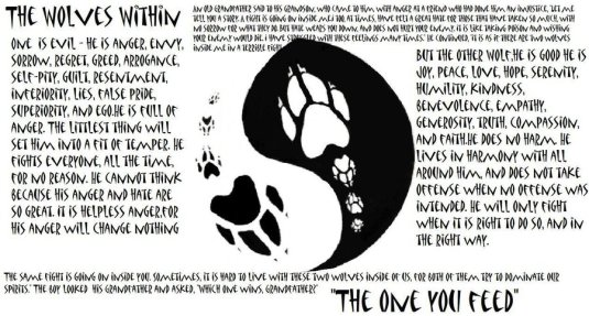 the wolves within yin yang