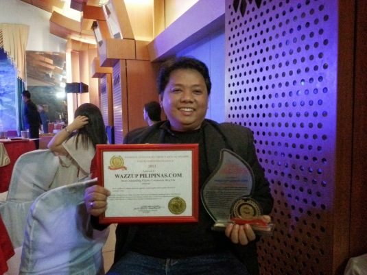 Wazzup Pilipinas Most Oustanding Filipino Community Blog Site Awarding